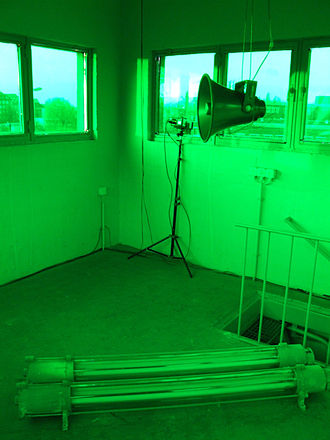 Georg Klein (composer) - Interactive Sound-Video-Installation turmlaute.2 in a watch tower at the former Berlin Wall