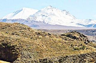 Tutupaca volcano in Peru