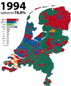 Dutch general election, 1994 - Image: Tweede Kamerverkiezingen 1994