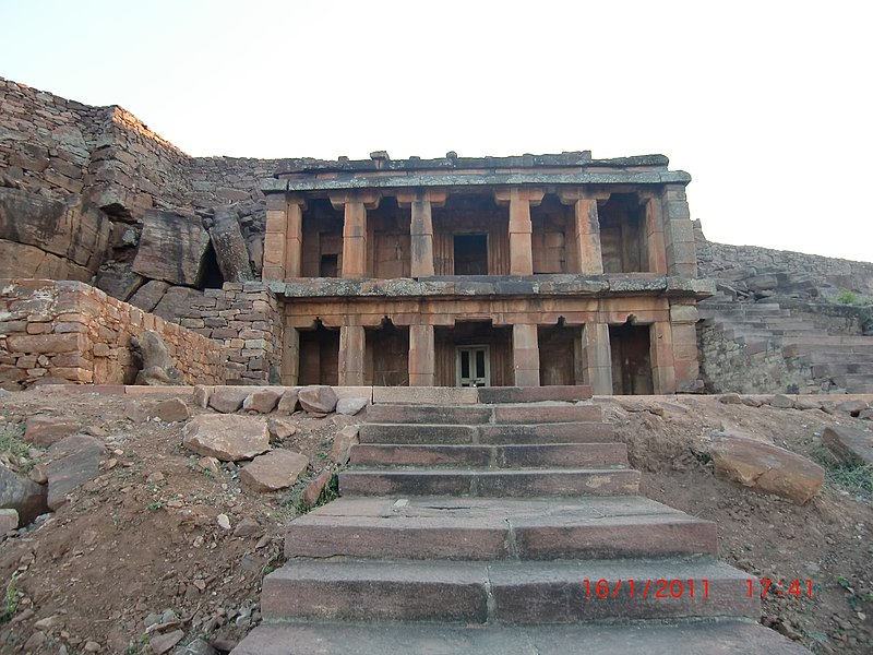 File:Two-story Buddhist temple Aihole 2.jpg