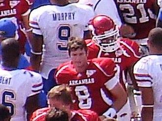 Tyler Wilson (American football) - Image: Tyler Wilson, UF at UA, 2008