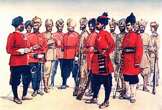84th Punjabis - Image: Types of Punjab Regiments. AC Lovett 1910