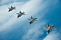 U.S. Air Force F-35A Lightning II aircraft assigned to the 58th Fighter Squadron, 33rd Fighter Wing fly in formation over the northwest coast of Florida May 16, 2013 130516-F-XL333-617.jpg