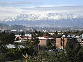 University of California, Riverside campus - View of the San Gabriel Mountains from the Botanic Gardens