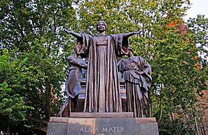 "University of Illinois at Urbana–Champaign - Statue on campus titled ""Alma Mater"" by Lorado Taft"
