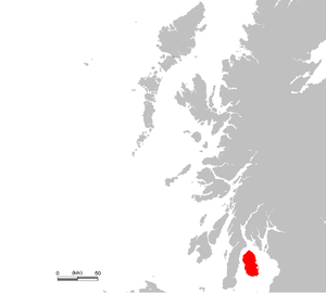 Location of Isle of Arran