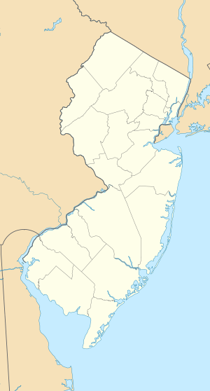 The crossing site is on the Delaware River, which marks the eastern border of Pennsylvania and the western border of New Jersey.  It is located north of an elbow in the river, which is the site of Trenton.  Mount Holly is about 18 miles from Trenton, almost directly to the south.
