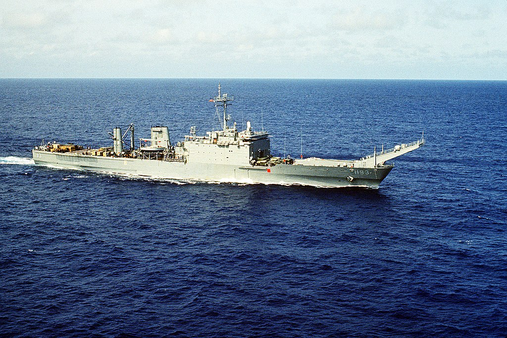 USS Fairfax County (LST-1193) stbd bow view.jpg