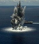 USS Jackson (LCS-6) during shock tials in the Atlantic Ocean on 10 June 2016.JPG