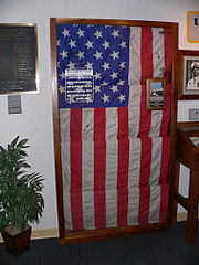 There are conflicting accounts as to whether the Liberty was flying its flag during parts of the attack