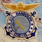 USS Randolph (CV-15) patch - Oregon Air and Space Museum - Eugene, Oregon - DSC09802.jpg