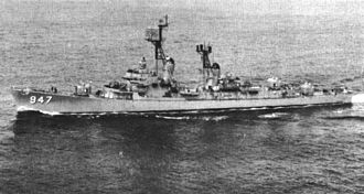 USS Somers (DD-947) - Somers before her modernisation, 1963.