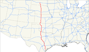 U.S. Route 183 - Image: US 183 map