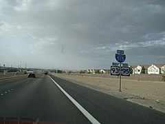 US 93 N and US 95 N at the start of the I-515.JPG