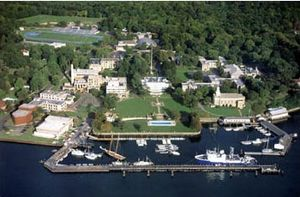 USNS Contender (T-AGOS-2) - Image: US Merchant Marine Academy aerial