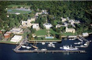 United States Merchant Marine Academy - Aerial view of United States Merchant Marine Academy