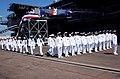 US Navy 030807-N-9712C-006 Sailors disembark USS Constellation (CV 64) during the ship's decommissioning ceremony.jpg
