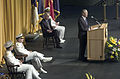 US Navy 050722-N-0295M-006 Secretary of Defense Donald Rumsfeld gives his address at the Chief of Naval Operations change of command ceremony.jpg