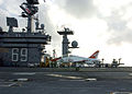 US Navy 060125-N-7359L-001 A T-45C Goshawk, makes an arrested landing aboard the Nimitz-class aircraft carrier USS Dwight D. Eisenhower (CVN 69).jpg
