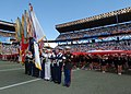 US Navy 070210-N-4965F-003 A joint service color guard present colors at mid-field during the National Football League's 2007 Pro Bowl game at Aloha Stadium in Honolulu, Hawaii.jpg