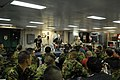 US Navy 070328-N-4207M-060 The Deuces, a shipboard band aboard amphibious assault ship USS Essex's (LHD 2), performs a show on the mess decks for Republic of Korea marines and Navy Sailors during Exercise Foal Eagle 2007.jpg