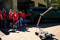 US Navy 070508-N-7732W-002 Chief Explosive Ordnance Disposal Keia Patti instructs 5th grade students from the local area to observe the reconnaissance and security robot Talon.jpg