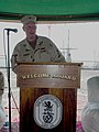 US Navy 070930-N-5307M-002 Rear Adm. Terence E. McKnight assumes command of Expeditionary Strike Group (ESG) 2 during a change of command ceremony aboard USS Gunston Hall (LSD 44).jpg