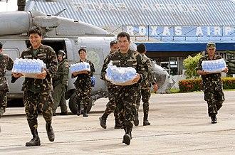 Roxas, Capiz - Philippine Army Servicemen at the Roxas Airport