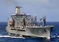 US Navy 081006-N-1082Z-019 The Military Sealift Command fleet replenishment oiler USNS Tippecanoe (T-AO 199) steams through the Indian Ocean after conducting a replenishment at sea with the guided-missile cruiser USS Vella Gul.jpg
