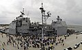 US Navy 090511-N-8907D-358 Family and friends welcome home Sailors assigned to the guided-missile cruiser USS Leyte Gulf (CG 55) during homecoming celebrations after a seven-month deployment.jpg