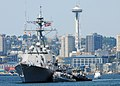 US Navy 090728-N-4649C-001 The Arleigh Burke-class destroyer USS Shoup (DDG 86) arrives in Seattle for the 60th Seafair celebration. Sailors will have the opportunity to experience the sights of downtown Seattle.jpg