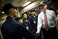 US Navy 090820-N-5549O-076 ecretary of the Navy, the Honorable Ray Mabus greets Sailors while touring the guided missle destroyer USS Chung-Hoon.jpg