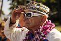 US Navy 101208-N-7498L-042 Allen Bodenlos, a Pearl Harbor survivor who served on the battleship USS Nevada (BB 36), salutes during the National Ant.jpg