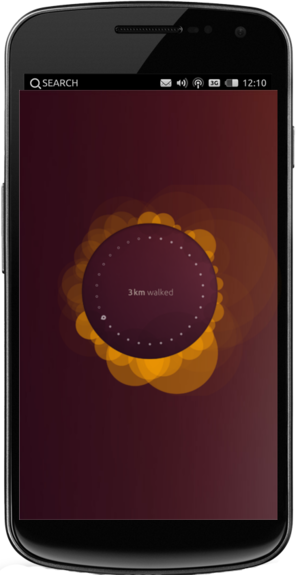 Ubuntu Touch - Ubuntu Touch Developer Preview 13.04 on a Galaxy Nexus, showing the Welcome screen