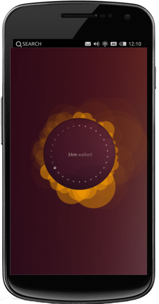 Home-Bildschirm von Ubuntu4Phone - By Cartmanland (Own work) [CC-BY-3.0], via Wikimedia Commons