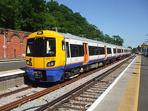 Crystal Palace railway station - London Overground train at Crystal Palace