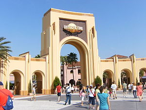 Entrance gate to Universal Studios Florida