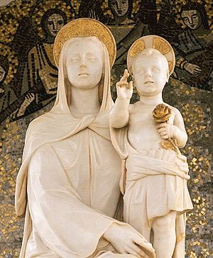 """Josemaría Escrivá - Mother of Fair Love, a gift of Josemaría Escrivá to the University of Navarra: John Paul II stated: """"Love for our Lady is a constant characteristic of the life of Josemaría Escrivá."""""""