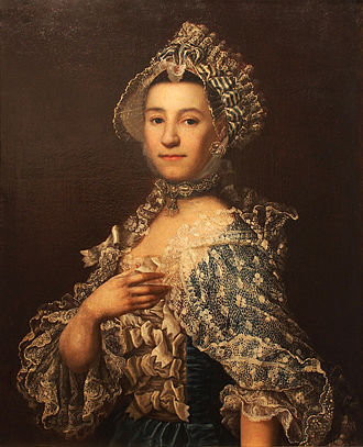 Georg Anton Urlaub - Portrait of his Wife, Maria; after his death she married the prince bishop's archivist, Johann Octavian Salver.