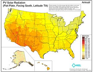 Annual PV Solar Radiation (Flat Plate, Facing ...