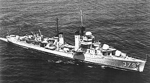 USS Preston (DD-379) - The USS Preston while underway in the late 1930s.