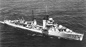 The USS Preston while underway in the late 1930s.