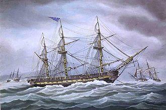 USS President (1800) - Image: Usspresidentatanchor