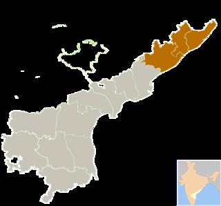 Uttarandhra Region of Andhra Pradesh in India