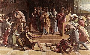 Raphael Cartoons - The Death of Ananias