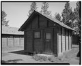VIEW NORTHWEST - Snowlodge, Tourist Cabin Type E No. 222, 260' southwest of Snowlodge, West Thumb, Teton County, WY HABS WYO,20-OFAIT,3G-1.tif