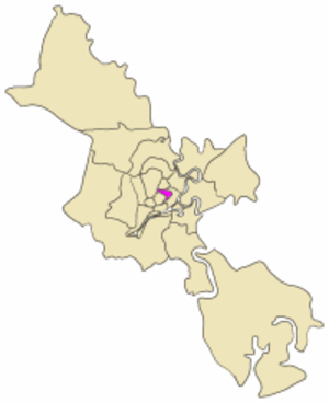 District 3, Ho Chi Minh City - Position in the metropolitan area of HCMC