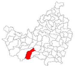 Location of Valea Ierii