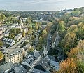 Valley of Alzette river in Luxembourg City 01.jpg