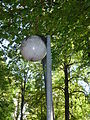 Vandalised streetlamp in Kopli park.JPG